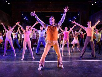 A chorus dancing